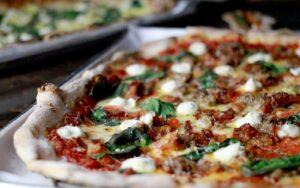 Basic pizza on a platter