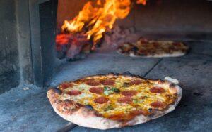 Coal-fired pepperoni pizza