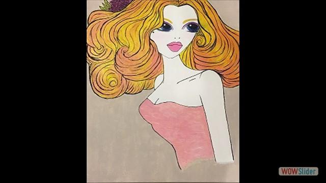 Chantilly Lace  Medium; Acrylic