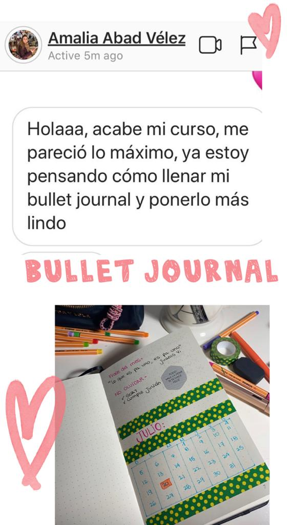 Bullet journal testimonio