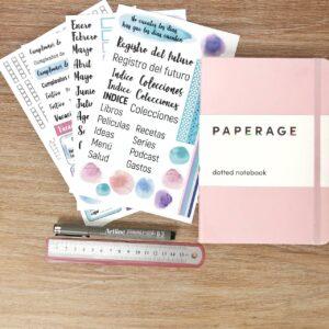 Kit de bullet journal basico ser esencia