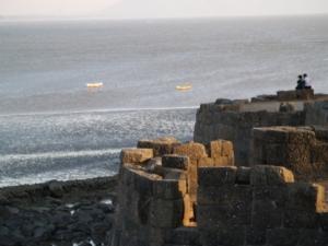 Alibag Fort, India, photo by Rakesh Ayilliath, Wikipedia