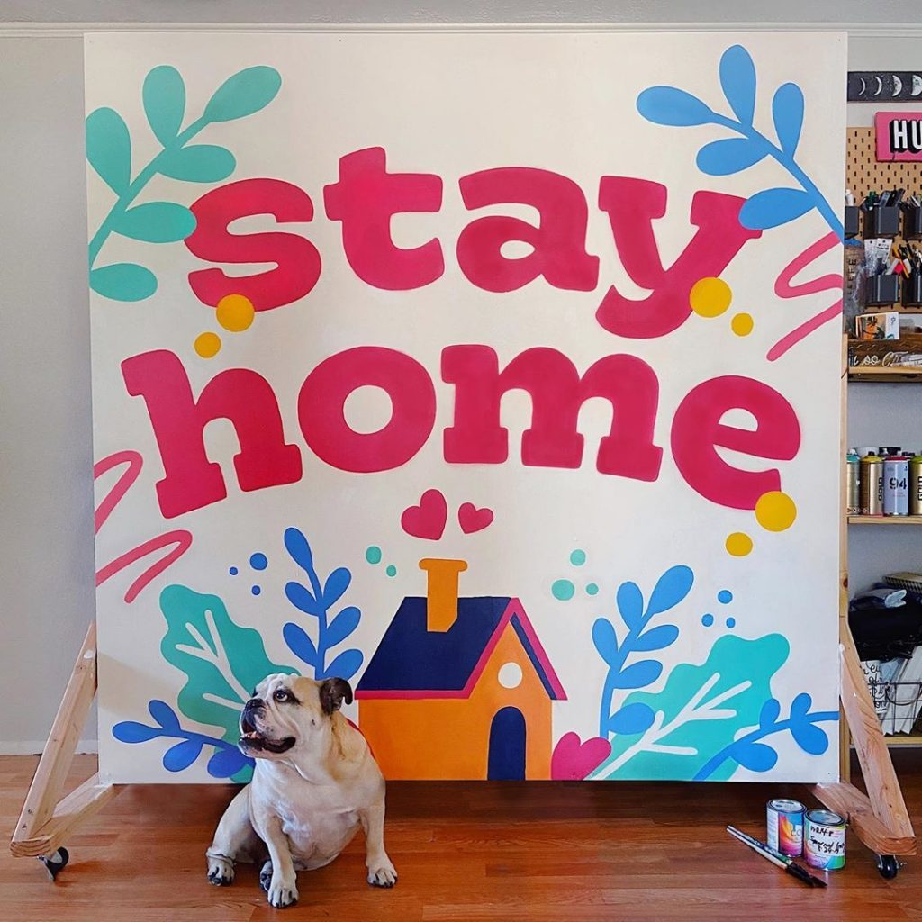 Stay Home Mural By Leo Gomez 1024×1024