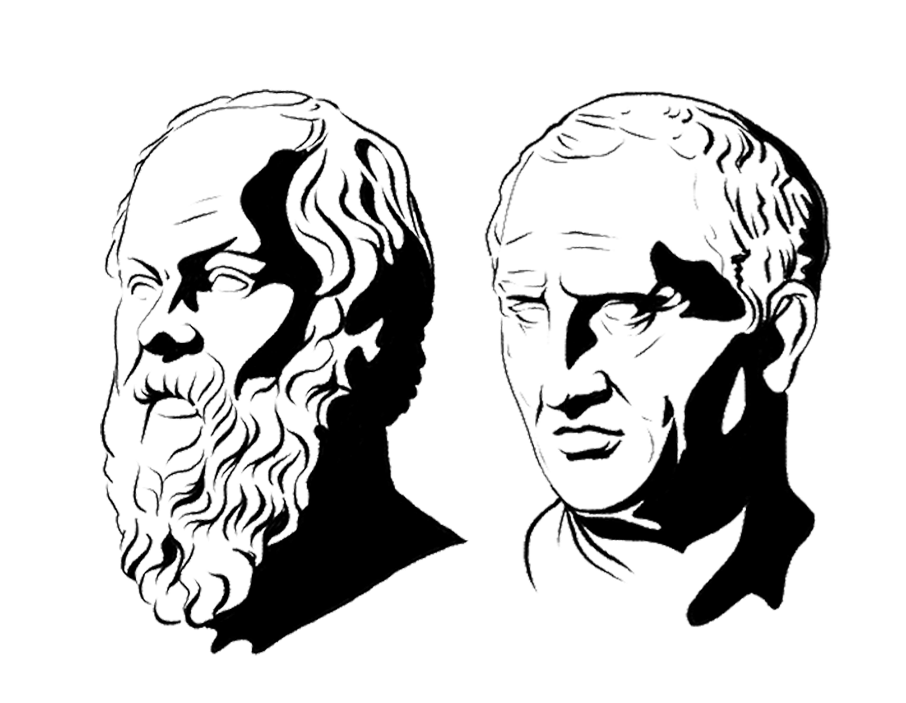 Socrates and Cicero