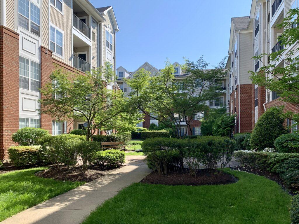 Exchange at Van Dorn Condos 4860/62 courtyard