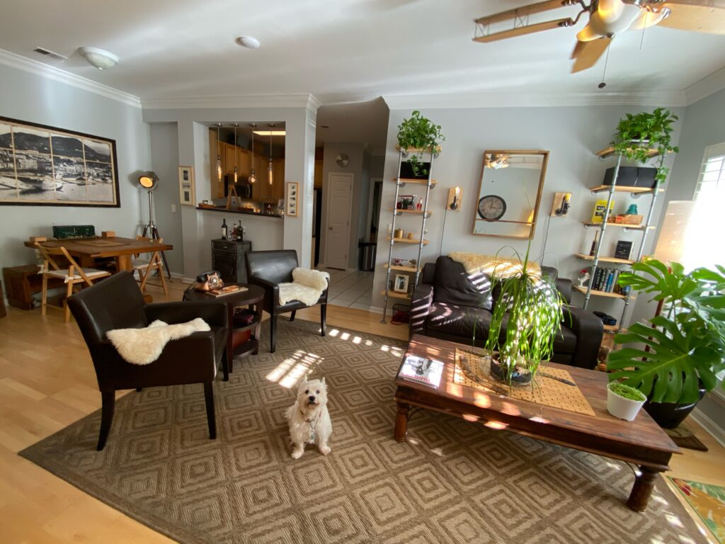 Exchange at Van Dorn Condos Kennedy unit living, dining and kitchen