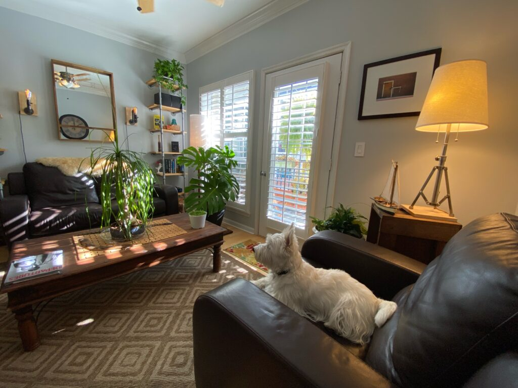 Exchange at Van Dorn Condos Kennedy unit living area and balcony