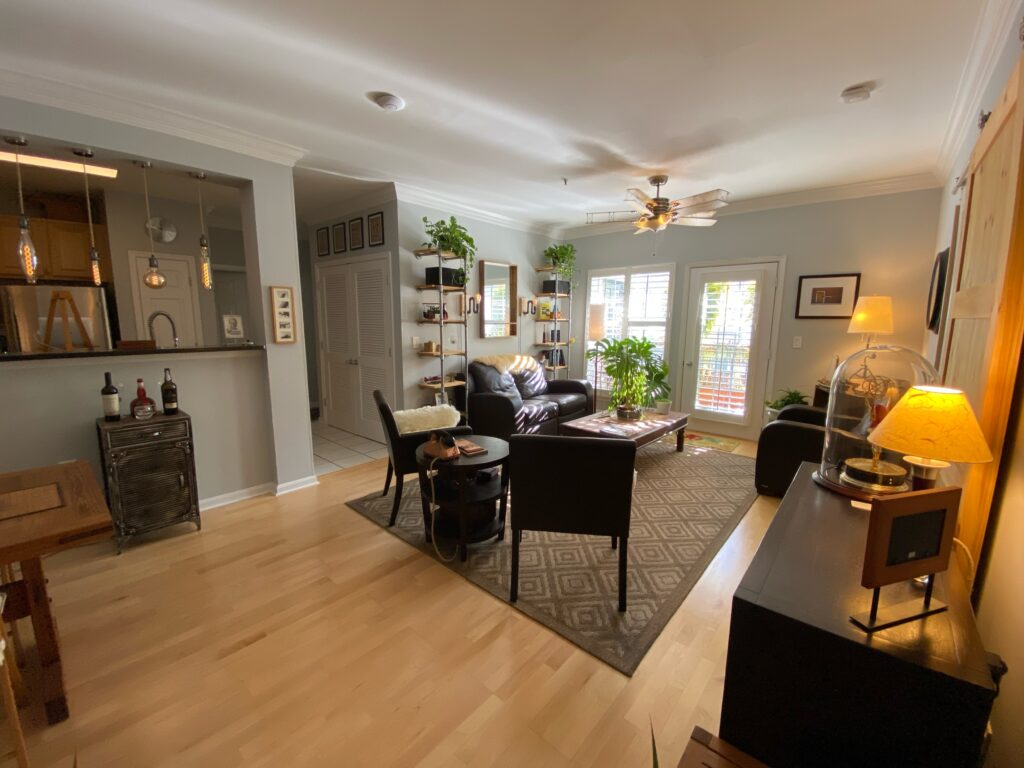 Exchange at Van Dorn Condos Kennedy unit living area and kitchen