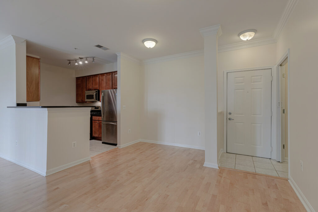 Exchange at Van Dorn Condos Roosevelt unit entry and dining area