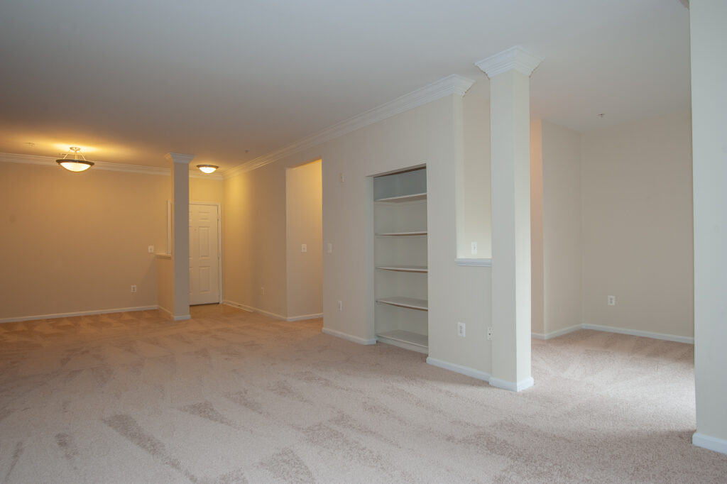 Exchange at Van Dorn Condos Eisenhower unit living and dining areas