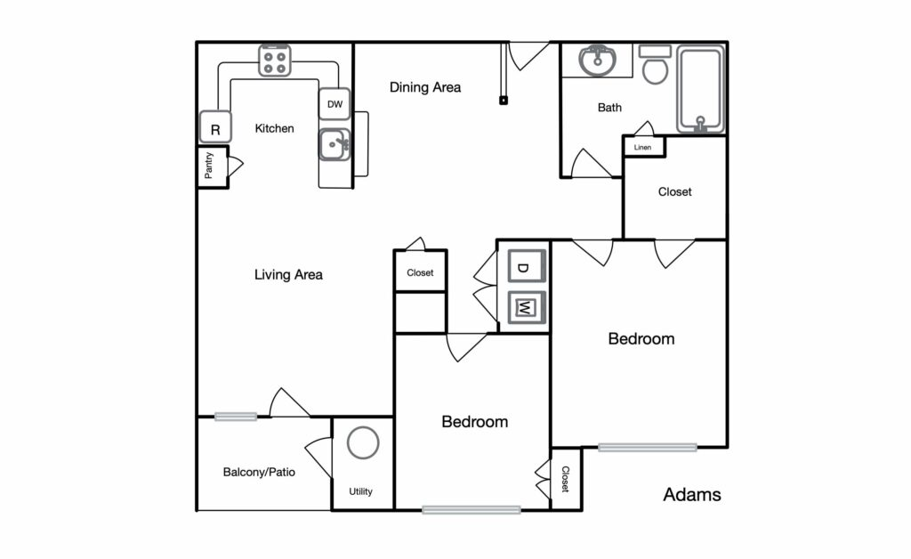 Adams unit floor plan