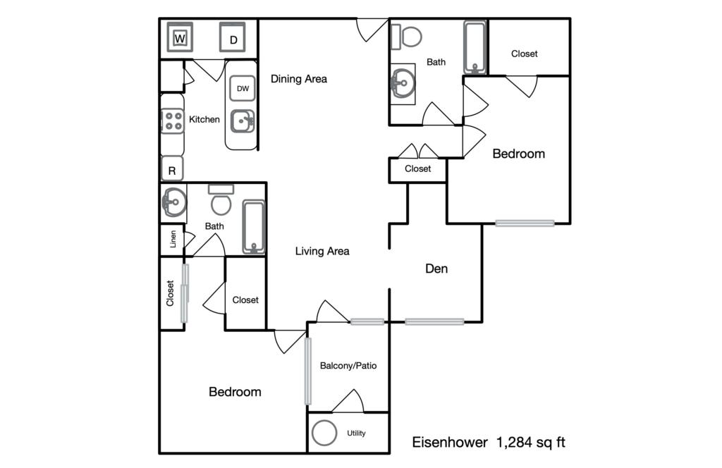 Eisenhower unit floor plan