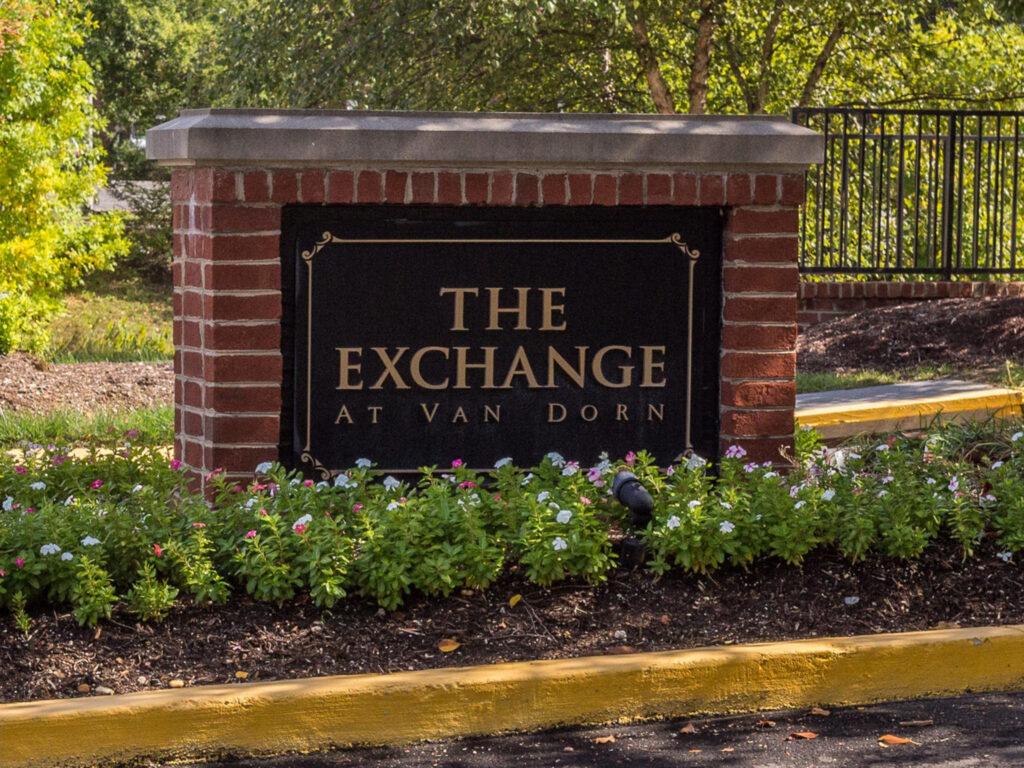 Exchange at Van Dorn Condos entry