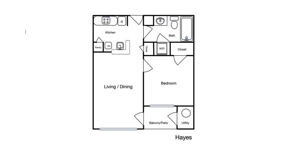 Hayes unit floor plan