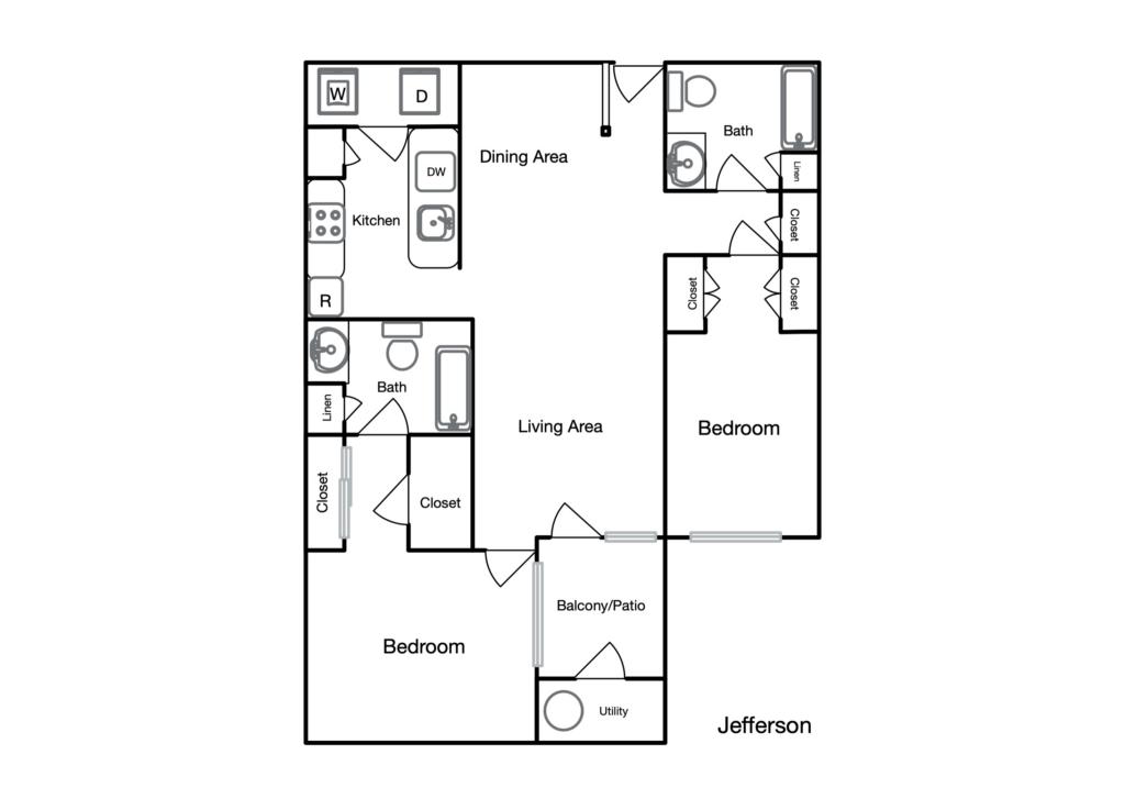 Jefferson unit floor plan