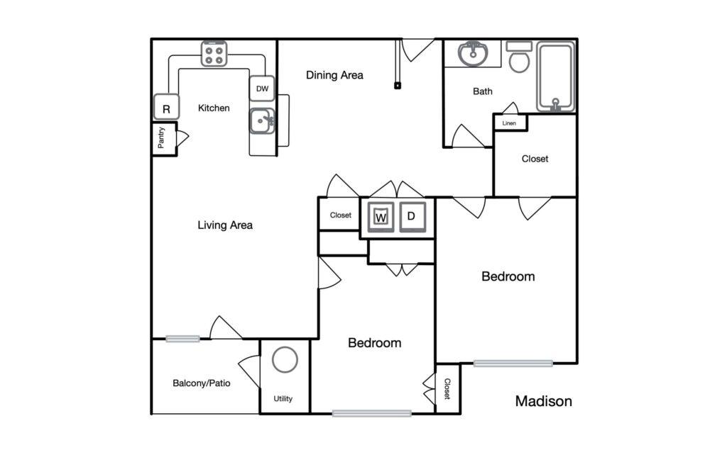 Madison unit floor plan