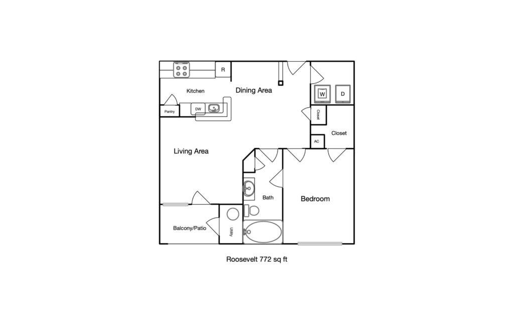Roosevelt unit floor plan