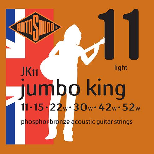 jk11 Rotosound Jumbo King Acoustic phosphor bronze guitar strings long life platinum flattop string