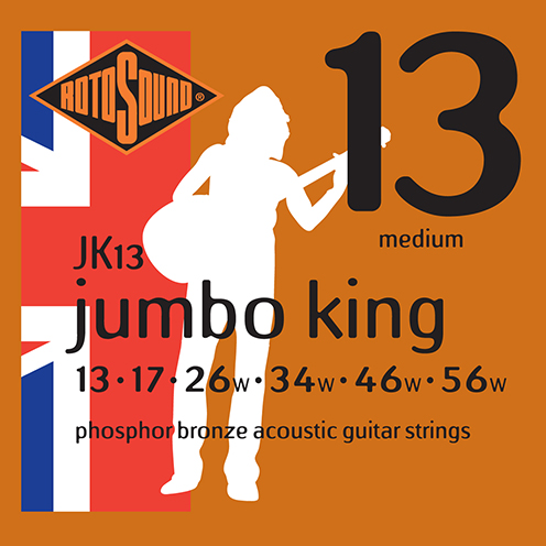 jk13 Rotosound Jumbo King Acoustic phosphor bronze guitar strings long life platinum flattop string