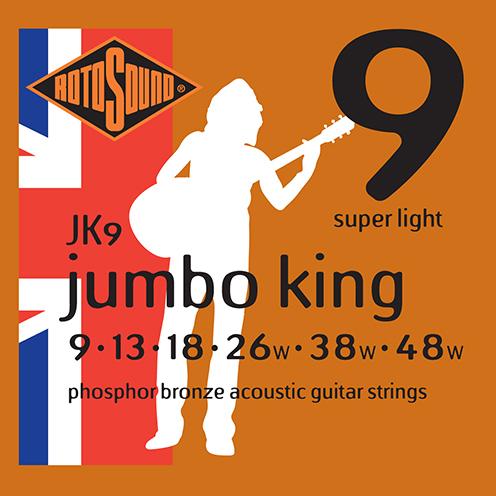 jk9 Rotosound Jumbo King Acoustic phosphor bronze guitar strings long life platinum flattop string