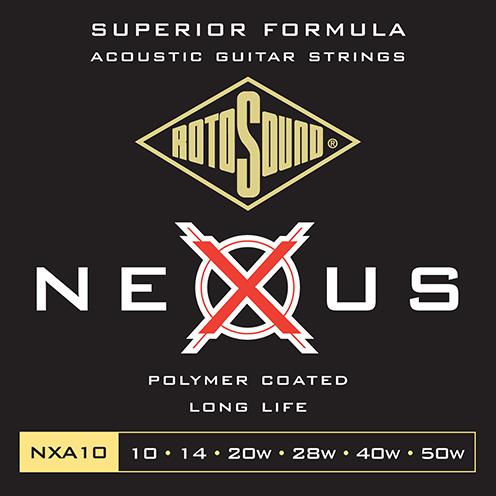 nxa10 Rotosound Nexus Acoustic coated guitar strings long life platinum polymer flattop string
