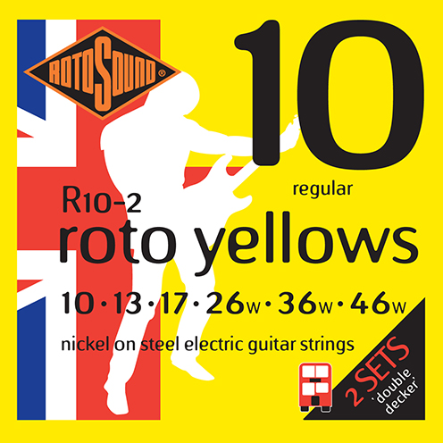 r102 Rotosound Roto nickel wound electric guitar strings. Best quality affordable giutar string for rock pop country metal funk blues