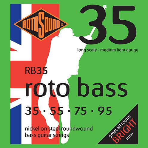 rb35 Rotosound Roto Bass strings. Affordable Steel nickel roundwound round wound swingbass bass wire precision jazz Rickenbacker 4003 John Entwistle bajo guitare rock metal medium light gauge guage regular bright