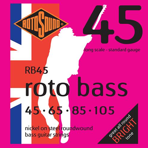 rb45 Rotosound Roto Bass strings. Affordable Steel nickel roundwound round wound swingbass bass wire precision jazz Rickenbacker 4003 John Entwistle bajo guitare rock metal standard gauge guage regular bright
