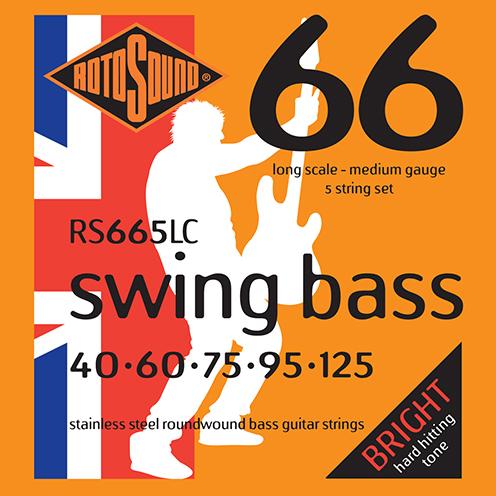 5 string Rotosound RS665 LC Swing Bass strings. Steel roundwound round wound swingbass bass wire precision jazz Rickenbacker 4003 John Entwistle bajo guitare rock metal standard gauge regular bright