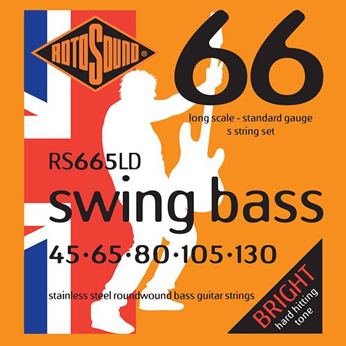 5 string Rotosound RS665 LD Swing Bass strings. Steel roundwound round wound swingbass bass wire precision jazz Rickenbacker 4003 John Entwistle bajo guitare rock metal standard gauge regular bright