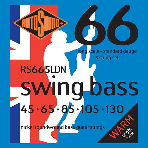 5 string Rotosound RS665 LDN Swing Bass strings. Steel NICKEL roundwound round wound swingbass bass wire precision jazz Rickenbacker 4003 John Entwistle bajo guitare rock metal standard gauge regular bright