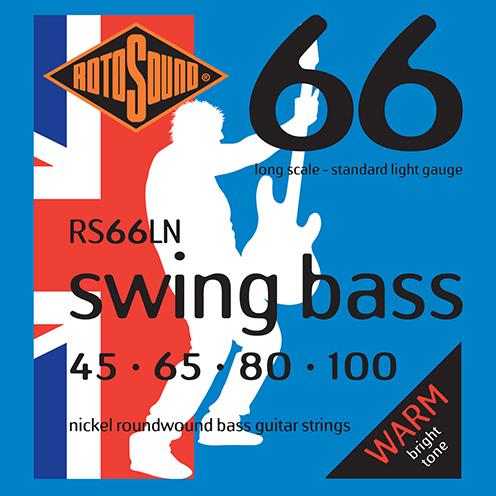 Rotosound RS66 LN Swing Bass strings. Steel Nickel roundwound round wound swingbass bass wire precision jazz Rickenbacker 4003 John Entwistle bajo guitare rock metal standard gauge regular bright