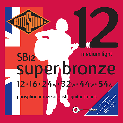 sb12 Rotosound Super Bronze contact core acoustic phosphor bronze guitar strings long life piano string design psd country gold flattop string