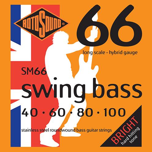 SM66 strings hybrid gauge Swing Bass 66 5string bass guitar set of string 40 125 gauge bright stainless steel tone roundwound round wound guage medium 40 100