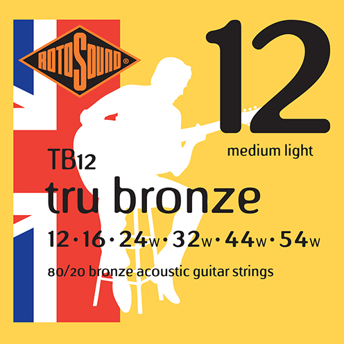 tb12 Rotosound Tru Bronze acoustic 80/20 bronze brass guitar strings flattop string
