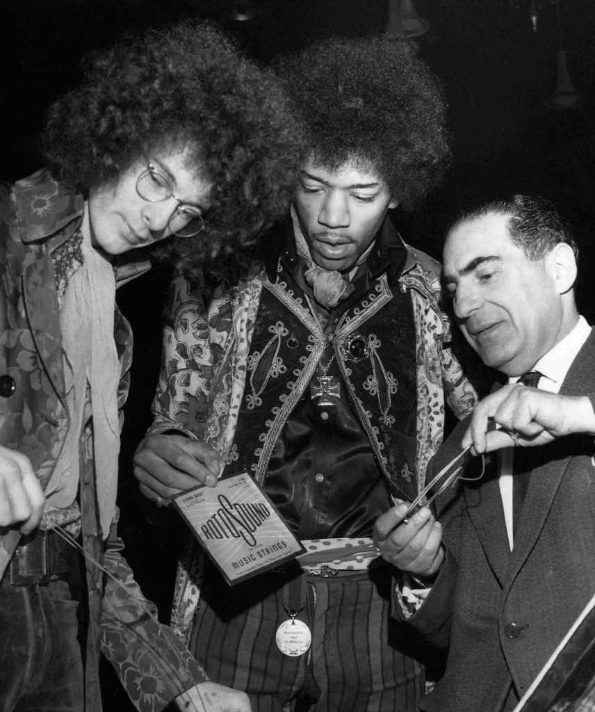 Jimi Hendrix Noel Redding Alan Marcuson Rotosound Guitar Strings_Purley Orchid Ballroom March 1st 1967
