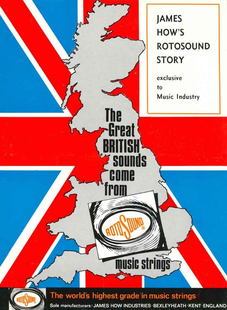 Rotosound Music industry supplement 1971 Great Britain map Union Jack flag