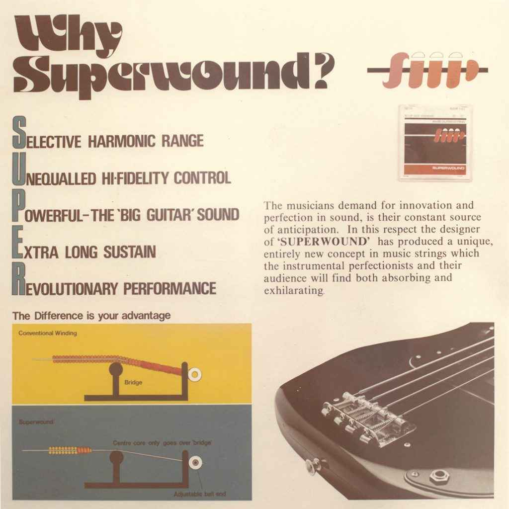 Why Superwound advert Rotosound archives