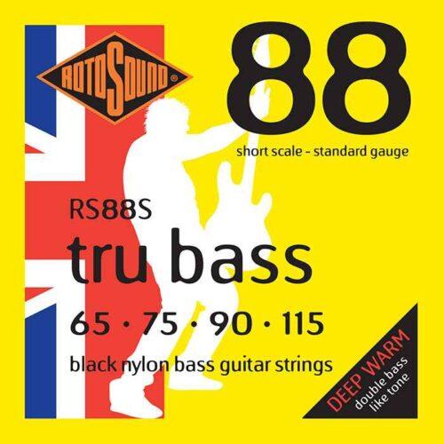 rs88s Rotosound Tru Bass guitar strings black nylon yellow silk double doublebass tone sound paul mccartney low tension fretless dub reggae