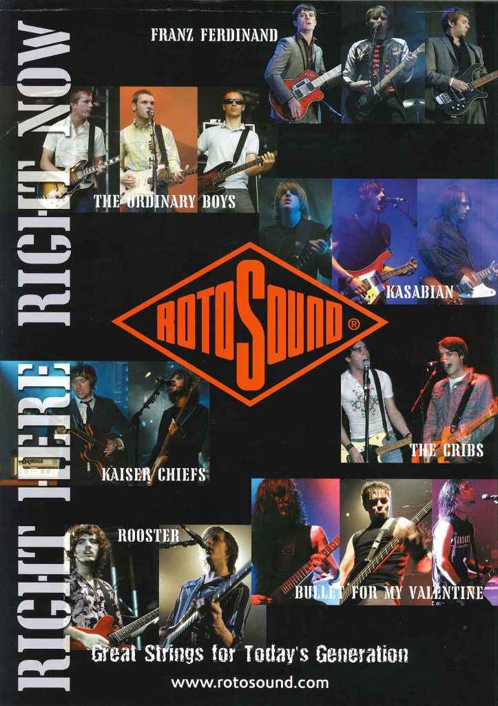 Great strings for today's generation Rotosound advert