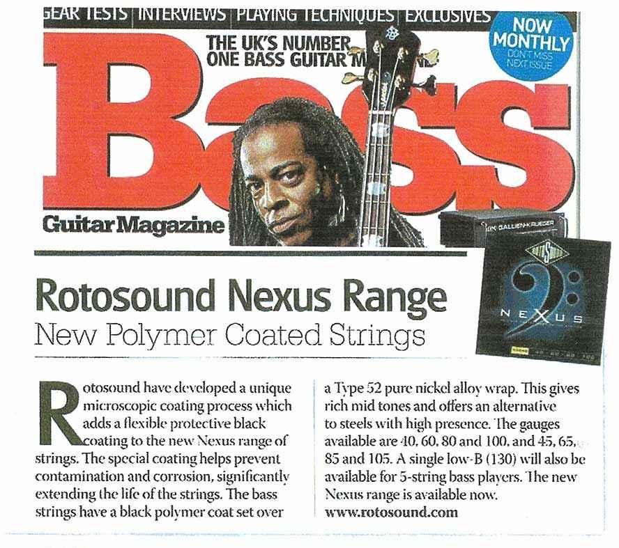 Nexus Bass Rotosound article