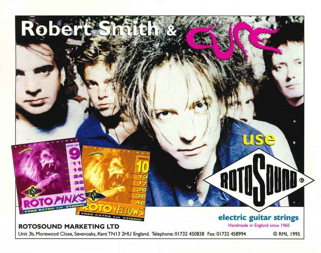 The Cure Rotosound strings Advert 1995