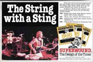 The String with the Sting. The Police bassist Superwound Superwound advert