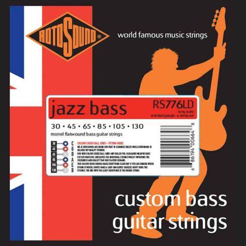 6 String Rotosound RS776LD Jazz Bass strings. Steel Monel nickel flatwound round wound jazzbass bass wire precision jazz Rickenbacker 4003 John Entwistle bajo guitare rock jazz standard gauge regular warm full