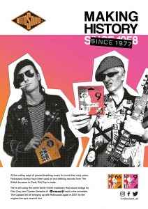 Rotosound Making History Advert Design The Damned Captain Sensible Paul Gray Rotos Swing Bass 66 bass guitar strings iconic legendary guitarist bassist advertising campaign punk poster