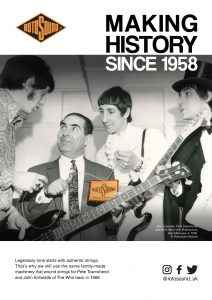 Rotosound Making History Advert Design The Who John Entwistle Pete Townshend British Steel Swing Bass 66 bass guitar strings iconic legendary guitarist bassist advertising campaign