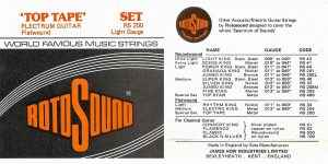 Rotosound 70s Top Tape RS 200 packaging