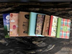 various writing journals