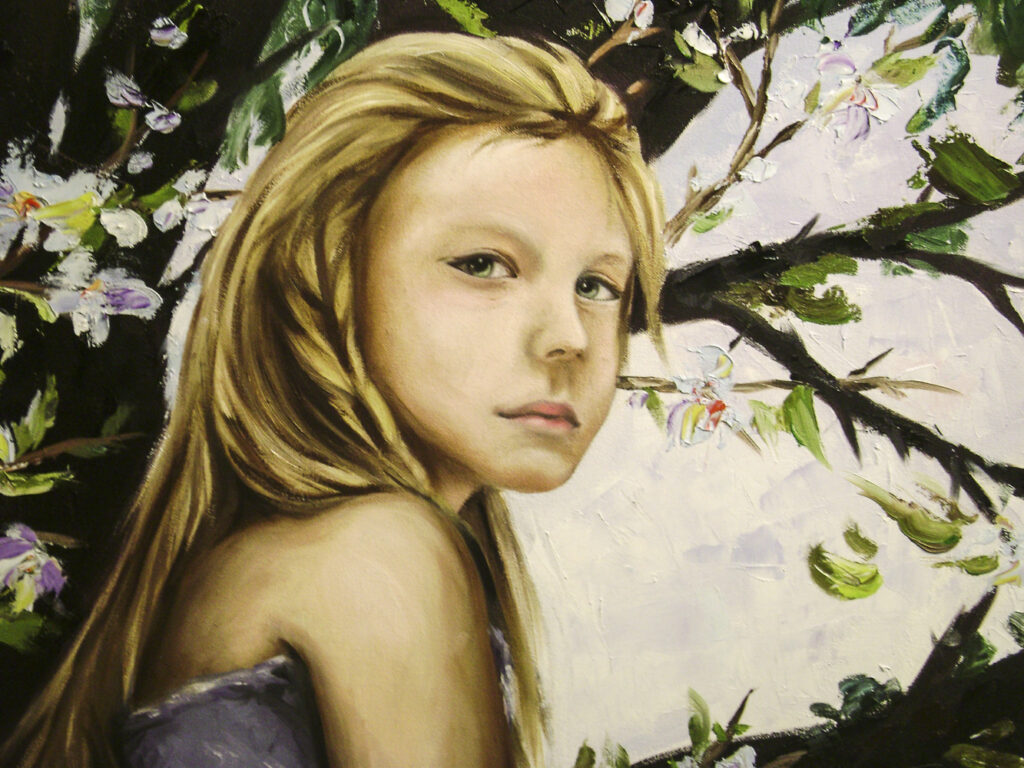 Grace Q.,12-year-old Oil painting