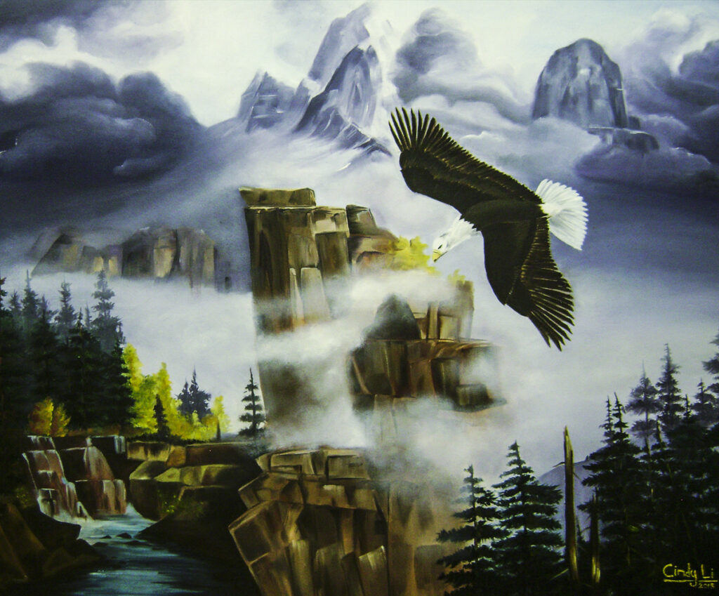 Cindy L., 18-year-old Oil painting